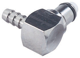 1/4 Hose Barb Non-Valved Elbow Coupling Insert
