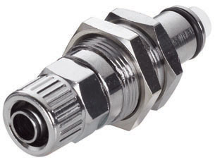 3/8 PTF Valved Panel Mount Coupling Insert  (LCD40006 NSF)