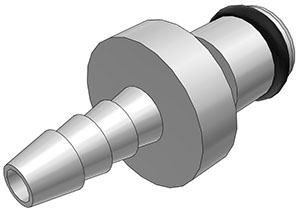 1/8 Hose Barb Non-Valved In-Line Coupling Insert
