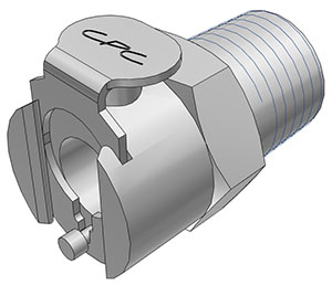 1/4 NPT Valved Coupling Body