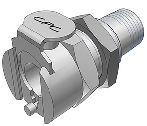 1/8 NPT Valved Panel Mount Coupling Body