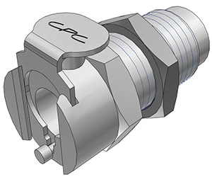 10-32 Valved Panel Mount Coupling Body