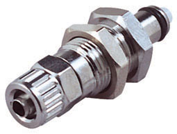1/4 PTF Valved Panel Mount Coupling Insert (MCD4004 NSF)
