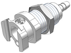 3/8 Hose Barb Non-Valved Multi-Mount Coupling Body