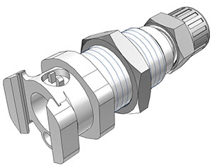 3/8 PTF Valved Multi-Mount Coupling Body