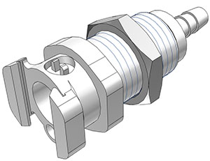 5/16 Hose Barb Non-Valved Multi-Mount Coupling Body