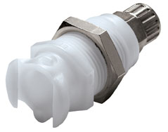 1/4 PTF Valved MM Coupling Body