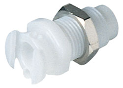 10-32 Female Thread Non-Valved Multiple Mount Coupling Body