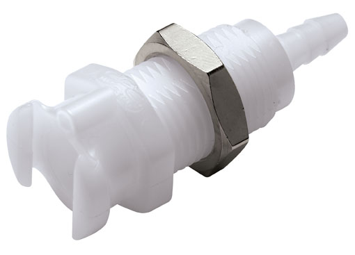 1/8 Hose Barb Valved Multi-Mount Coupling Body