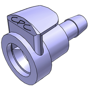 1/4 Hose Barb Non-Valved In-Line Coupling Body