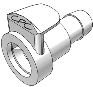 3/8 Hose Barb Non-Valved In-Line Coupling Body