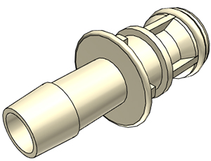 1/4 Hose Barb Non-Valved Coupling Insert