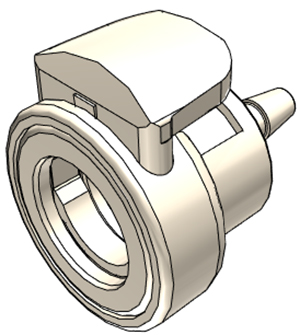 1/8 Hose Barb Non-Valved In-Line Coupling Body With Lock