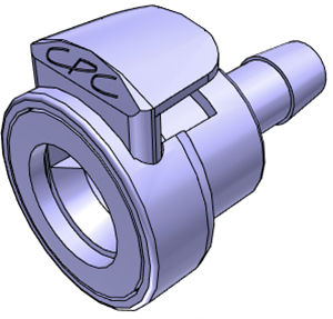 1/4 Hose Barb Non-Valved Coupling Body With Lock