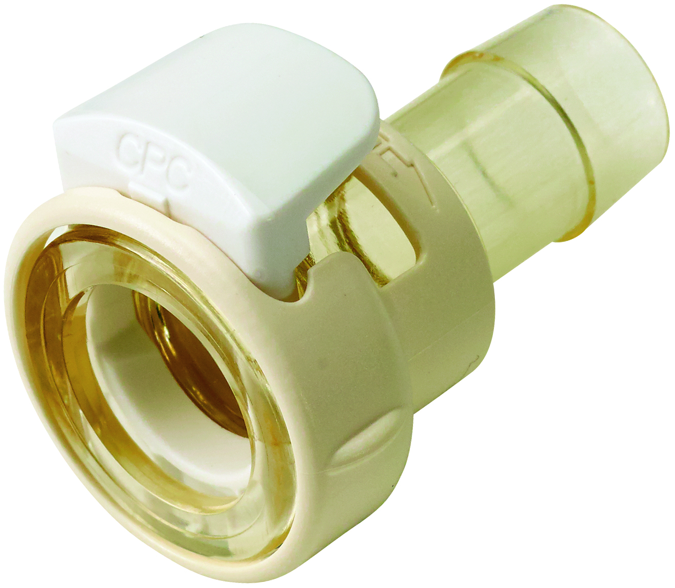3/8 Hose Barb Non-Valved Coupling Body With Lock