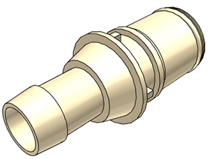 3/8 Hose Barb Non-Valved Coupling Insert