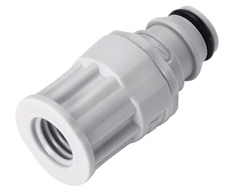 1/4-28 Flat Bottom Port Valved In-Line Coupling Insert