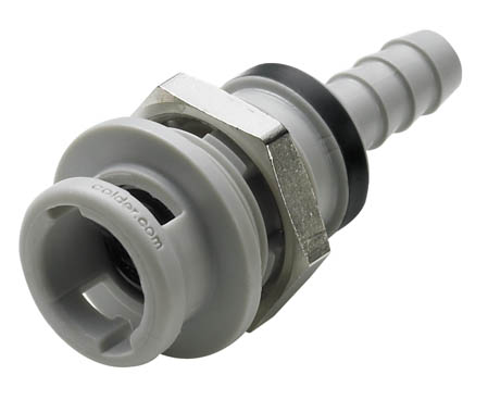 1/8 Hose Barb Valved Coupling Body