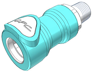 1/4 BSPT Valved In-Line Coupling Body