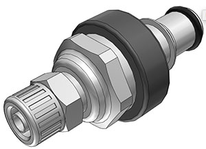 1/4 PTF Valved In-Line Coupling Insert