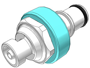 1/8 Hose Barb Valved In-Line Coupling Insert