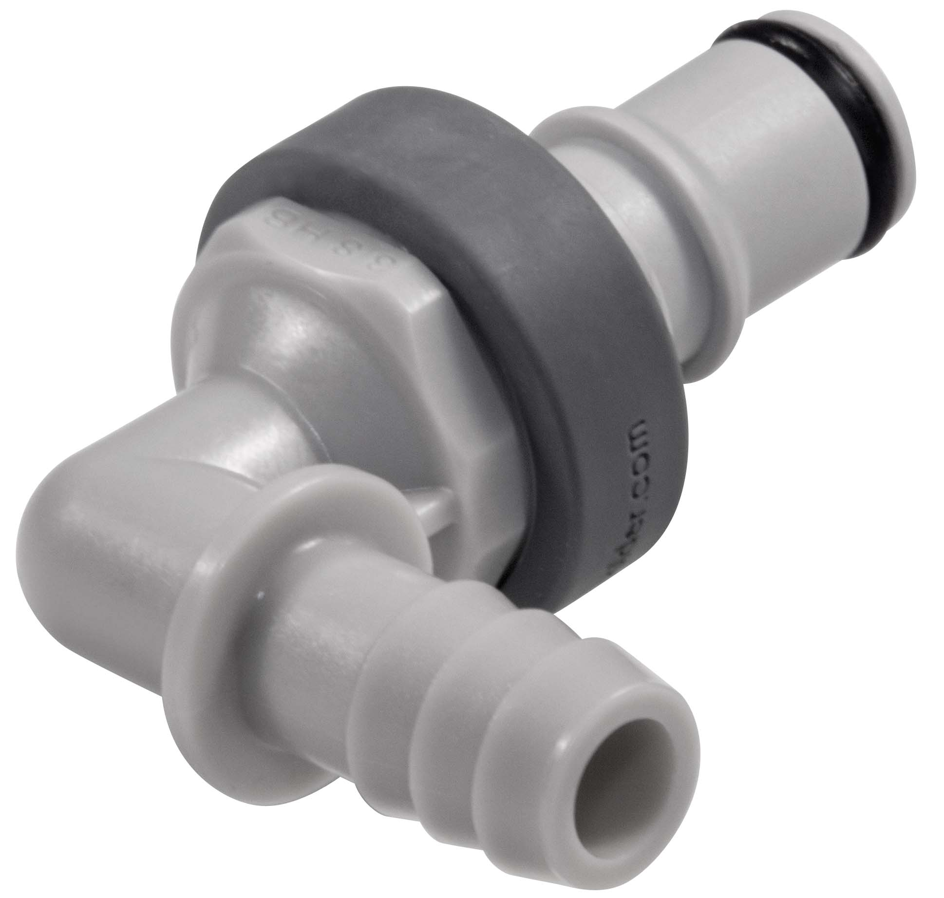 3/8 Hose Barb Valved Elbow Coupling Insert