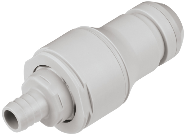 1/2 Hose Barb Valved In-Line Coupling Insert