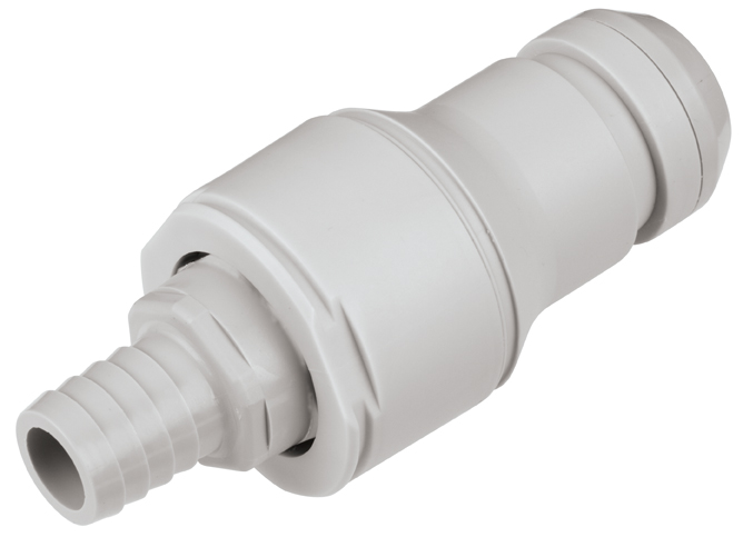 5/8 Hose Barb Valved In-Line Coupling Insert