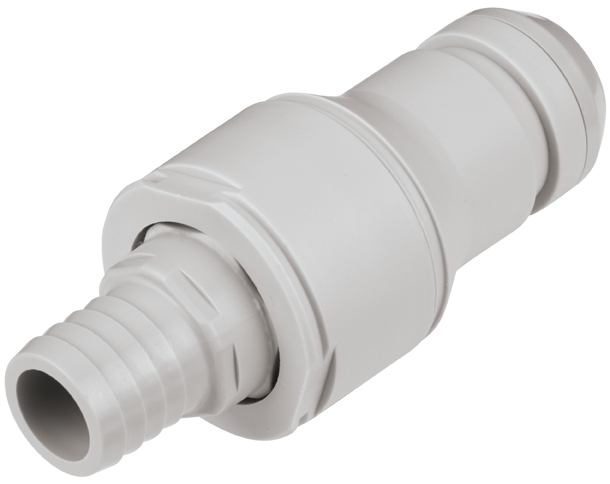 3/4 Hose Barb Valved In-Line Coupling Insert