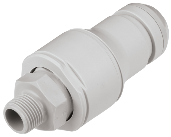 3/8 BSPT Valved In-Line Coupling Insert