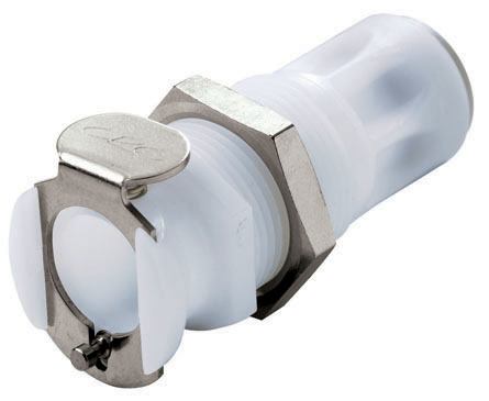 1/4 JG Valved Panel Mount Coupling Body (PLCD11004 NSF)
