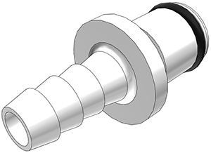 1/4 Hose Barb Non-Valved In-Line Coupling Insert (PLC22004 NSF)