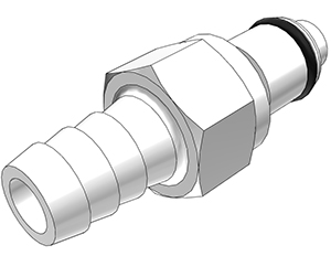 3/8 Hose Barb Valved In-Line Coupling Insert (PLCD22006 NSF)
