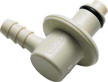 1/4 Hose Barb Valved Elbow IdentiQuik Coupling Insert with RFID