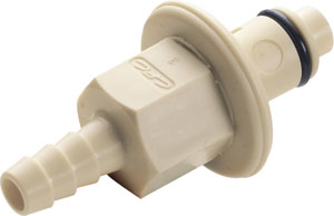 3/8 Hose Barb Valved In-Line IdentiQuik Coupling Insert with RFID