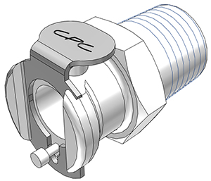 1/4 BSPT Non-Valved Coupling Body