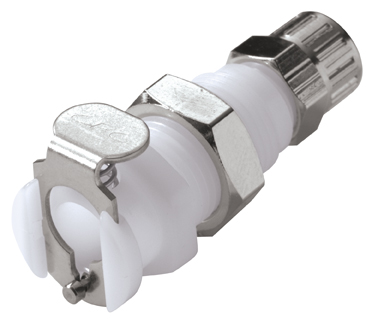 1/4 PTF Non-Valved Panel Mount Coupling Body (PMC1204 NSF)