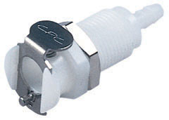 1/8 Hose Barb Non-Valved Panel Mount Coupling Body (PMC1602 NSF)
