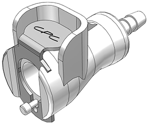 1/8 Hose Barb Non-Valved In-Line Coupling Body