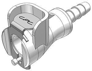 3/16 Hose Barb Non-Valved In-Line Coupling Body
