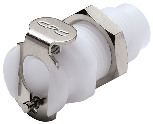10-32 Non-Valved Panel Mount Coupling Body
