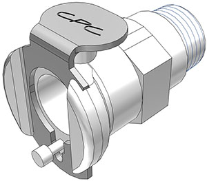 1/8 BSPT Valved Coupling Body