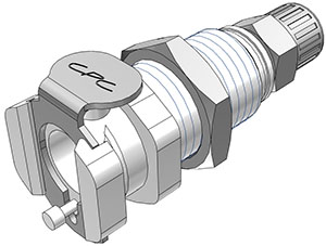 5/32 PTF Valved Panel Mount Coupling Body