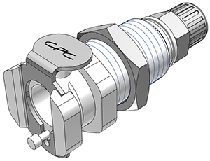 4mm PTF Valved Panel Mount Coupling Body