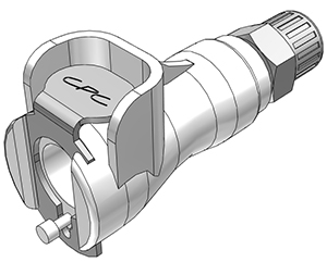 5/32 PTF Valved In-Line Coupling Body