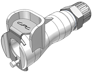 1/4 PTF Valved In-Line Coupling Body