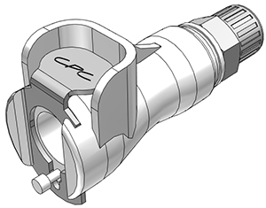 4mm PTF Valved In-Line Coupling Body