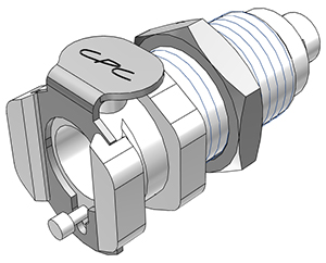 1/16 Hose Barb Valved Panel Mount Coupling Body