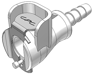 3/16 Hose Barb Valved In-Line Coupling Body