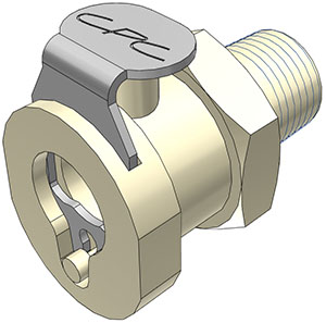 1/8 MBSPT Non-Valved Coupling Body